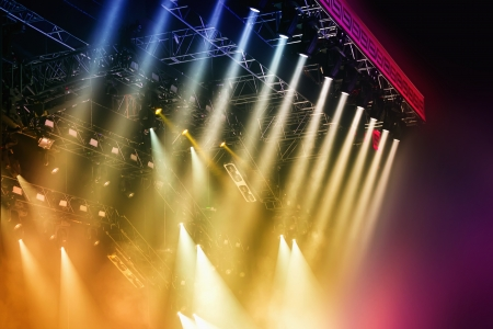 colourful lightings: Colorful Stage lights at concert