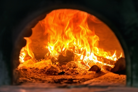 A traditional oven for cooking and baking pizza