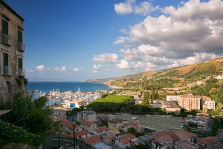 View of the beautiful city of Tropea in southern Italy photo