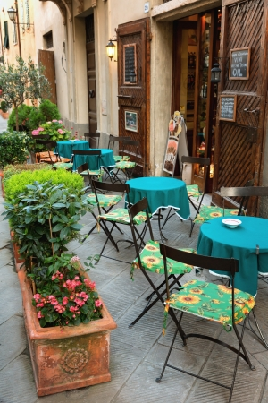 Typical small cafe in Tuscany, Italy Foto de archivo