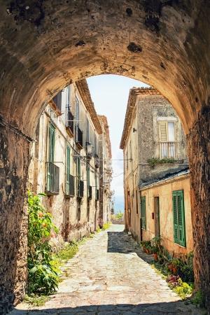 Beautiful old street in Tuscany, Italy