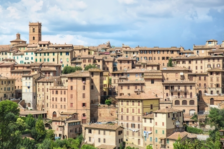 tuscan house: View of the historical part of the city of Siena in Tuscany - Italy