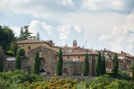 montalcino: Entrance gateway to the picturesque town of Montalcino in Italy