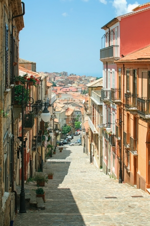 View of a typical Italian architecture - the city Vibo Valentia