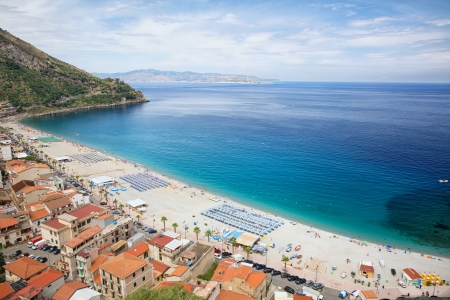 calabria: View on Scilla beach in Calabria, southern Italy