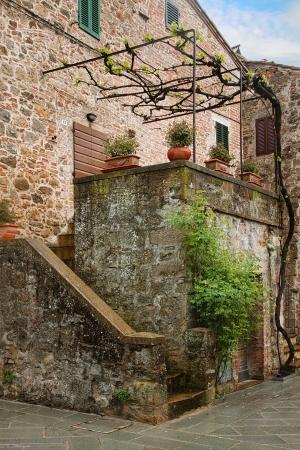 nook: Montepulciano - Picturesque nook of Tuscany Stock Photo