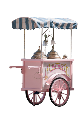 hand truck: Gelato in Italy - ice cream truck