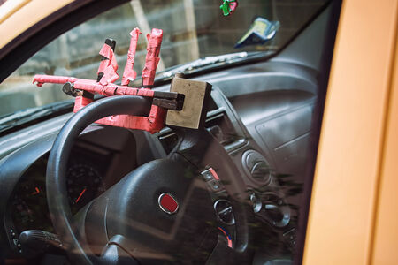 theft prevention: security steering wheel anti-theft vehicle - domestic production