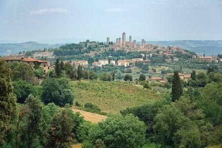 San Gimignano Medieval Village, Italy, Europe  photo