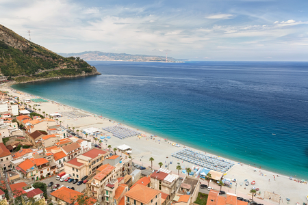 tyrrhenian: View on Scilla beach in Calabria, southern Italy