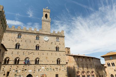 priori: Historic buildings on the Square - Piazza dei Priori, Volterra Tuscany Italy