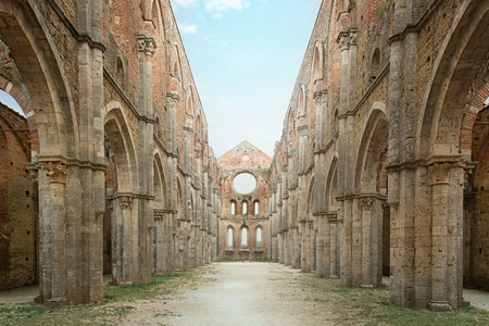 monastery nature: Cistercian convent built in the 12th-century, 30 km southwest of the city of Siena, Tuscany, Italy