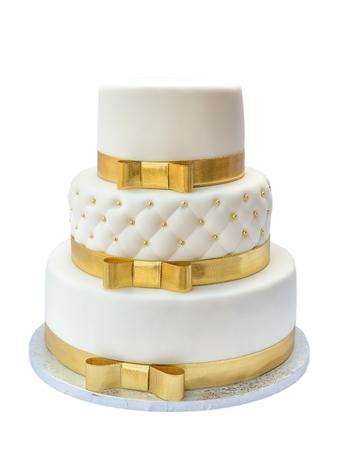 Wedding cake on white background