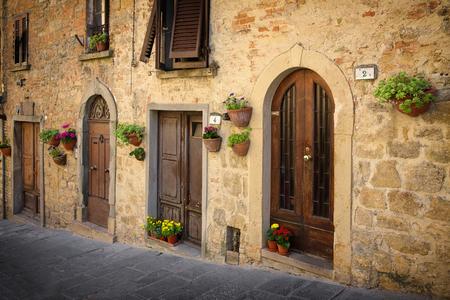 priori: The road leading to the main square - Piazza dei Priori, Volterra Tuscany Italy