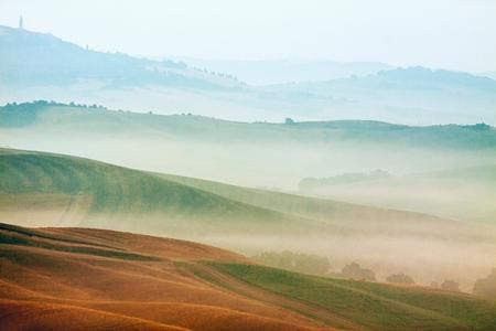 Paisaje rural del paisaje de la región Toscana en Italia