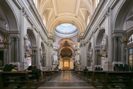 PALERMO, ITALY - JUNE 27, 2016: Interior of Metropolitan Cathedral of the Assumption of Virgin Mary is the cathedral church of the Roman Catholic Archdiocese of Palermo