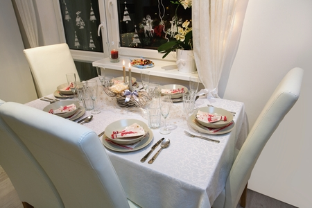 Beautifully set table for Christmas Eve Stock Photo - 68693053 & Beautifully Set Table For Christmas Eve Stock Photo Picture And ...
