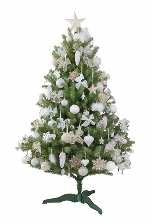 christmas isolated: a beautiful Christmas tree on a white background