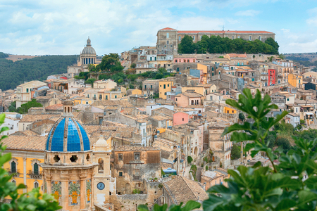 ragusa: Colorful houses in old medieval village Ragusa in Sicily, Italy