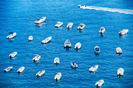 Many different type of small boats at port of Scilla, Calavbria, Italy Reklamní fotografie