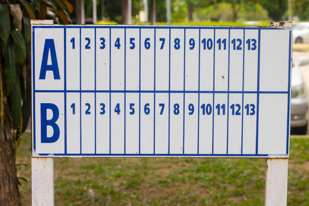 petanque: petanque score board Stock Photo