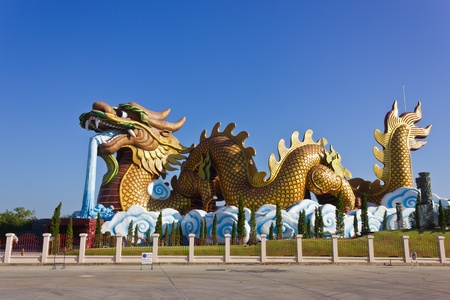 Large dragon sculpture art of China.