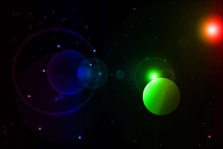Stars are bright green in the universe photo