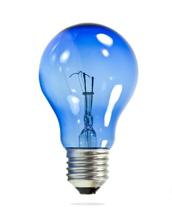 Light bulb on isolated white background. photo