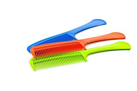 plastic comb: The  comb on a white background