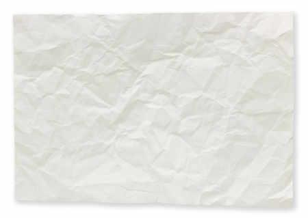 Folded paper notes isolated on white background. photo