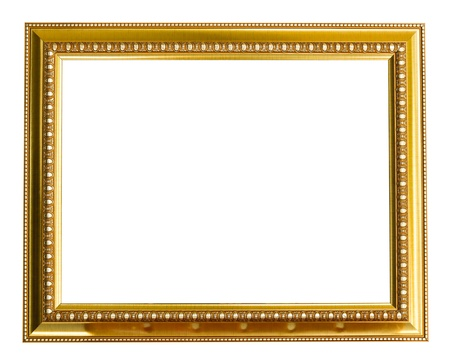 Picture gold frame isolated on a white background. photo