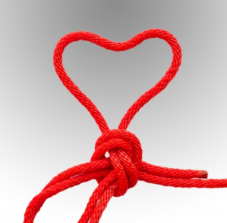 Il cuore rosso stringa. Archivio Fotografico - 17094551