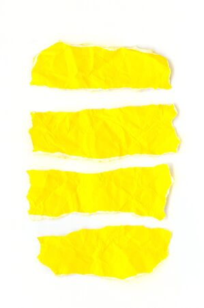 Yellow papers on white background. Stock Photo - 17094547