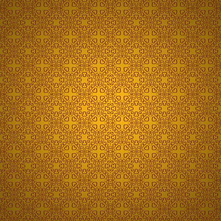 Heart pattern on a gold background. photo