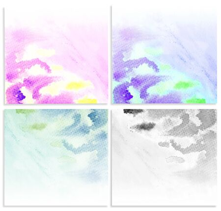 Set water color grunge background. photo