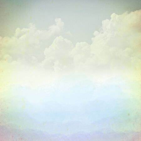 Sky on old paper grunge background. photo