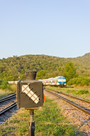 Old railway switching device photo