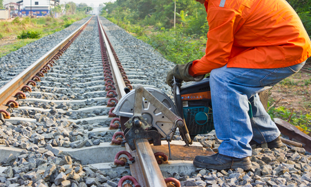 Workers were cutting tracks for maintenance. photo