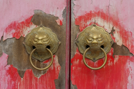 Old chinese door photo