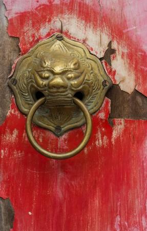 Old chinese door photo