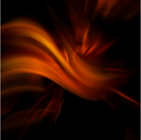 fire flower: abstract fire on black.