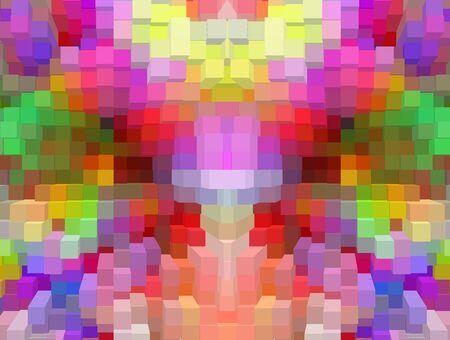 rectangular: Rainbow rectangular color background.