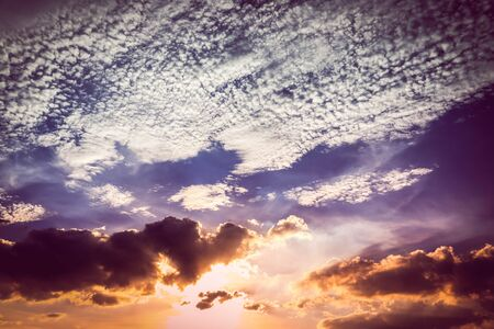 nimbi: Amazing sky on sunset natural background.