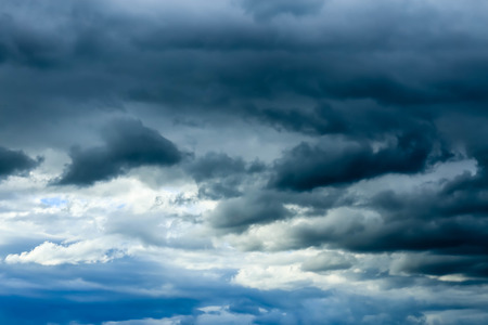 Sky and rain clouds.