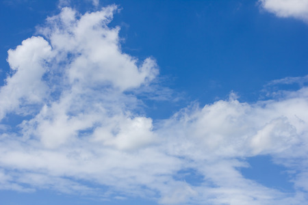 nebulosity: Blue sky and white clouds.