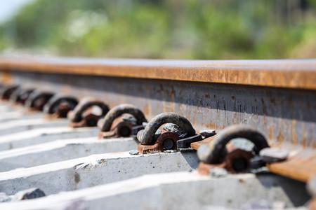 intersect: Anchor rail equipment. Stock Photo
