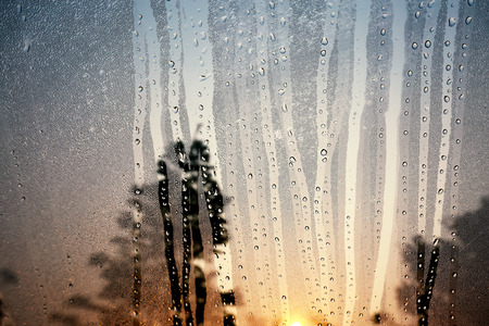 condensation: Condensation glass in the morning.
