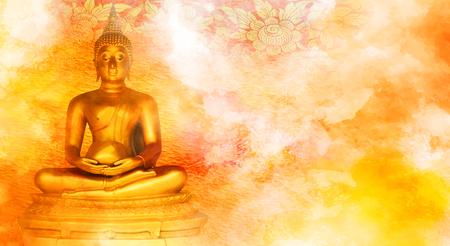 Statua di Buddha su sfondo grunge. Archivio Fotografico - 58114199