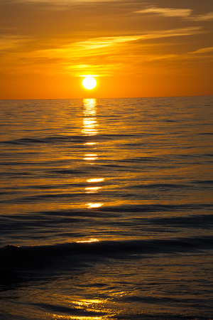 reflektion: Fort Myers Beach, Sonnenuntergang