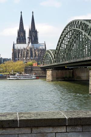 cologne: Cologne, cathedral, bridge Stock Photo